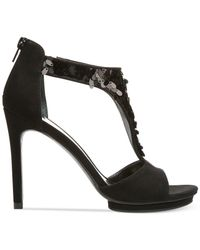 Carlos By Carlos Santana - Black Sonora Sequined Sandals - Lyst