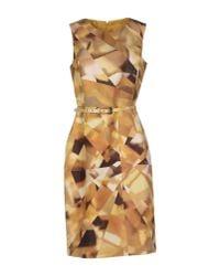 Oscar de la Renta - Natural Knee-length Dress - Lyst