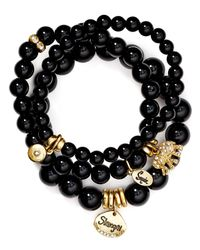 Sequin - Black Strength Elephant Bracelets, Set Of 3 - Lyst