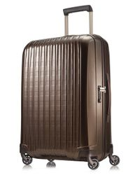 Hartmann - Brown 'innovaire' Wheeled Suitcase for Men - Lyst