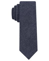 Calvin Klein | Blue Jeans Solid Skinny Tie for Men | Lyst