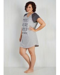 Sleep & Co. - Gray Zzz You Later Nightgown - 1x-3x - Lyst