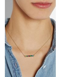 Lulu Frost Code - Metallic Dearest 18-Karat Gold Multi-Stone Necklace - Lyst