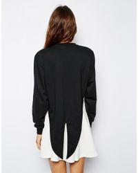 Lazy Oaf - Black Tux Sweatshirt - Lyst
