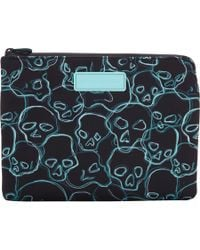 Marc Jacobs - Blue Neon Skulls Tablet Zip Case - Lyst