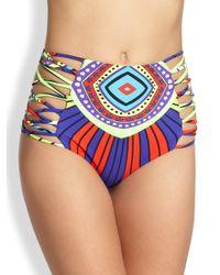 Mara Hoffman | Blue High Waisted Bikini Bottom | Lyst