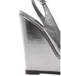 ASOS - Metallic Peak Wedges - Lyst
