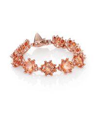 Eddie Borgo - Pink Circle Estate Crystal Bracelet - Lyst