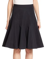 Marc By Marc Jacobs - Black Pleated Poplin Skirt - Lyst