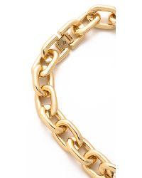 Sam Edelman - Colorblock Link Necklace - Black/gold - Lyst