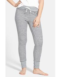 Volcom - Black 'front Page' Stripe French Terry Pants - Lyst