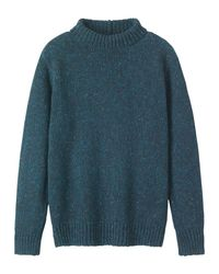 Toast | Blue Donegal Roll Neck Pullover for Men | Lyst