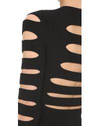 Cushnie et Ochs - Black Long Sleeve Crop Top - Lyst