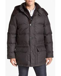 Vince Camuto | Brown 680-down Fill Quilted Hooded Parka for Men | Lyst