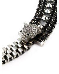 Iosselliani - Metallic 'Metal Instinct' Cheetah Necklace - Lyst