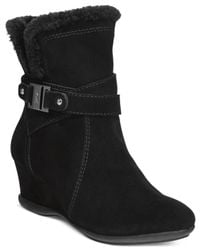 Anne Klein | Black Incaged Cold Weather Boots | Lyst