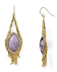 Alexis Bittar - Metallic Feathered Teardrop Earrings - Lyst