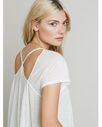 Free People - White Electric Tee - Lyst