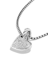 David Yurman | Metallic Cable Heart Pendant With Diamonds | Lyst