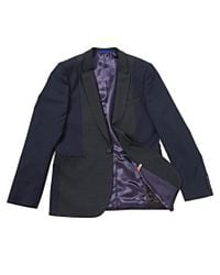 PS by Paul Smith - Blue Blazer with Colour Block for Men - Lyst