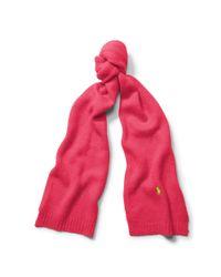 Polo Ralph Lauren | Pink Wool-blend Scarf | Lyst