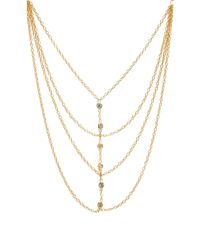 Jacquie Aiche | Metallic Multi Chain Necklace | Lyst