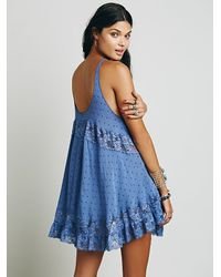 Free People - Blue She Swings Slip - Lyst