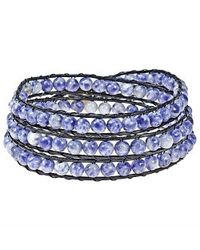 Aeravida | Blue Sodalite Treasure Triple Wrap Leather Bracelet | Lyst