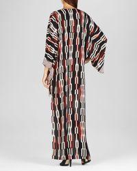 BCBGMAXAZRIA | Black Norina Print Blocked High Low Kimono Sleeve Dress | Lyst