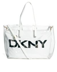 DKNY Active - White Beach Tote Bag - Lyst