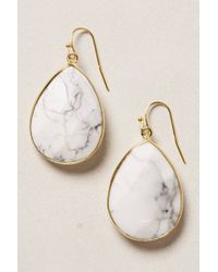 Anthropologie | White Gold Rung Earrings | Lyst