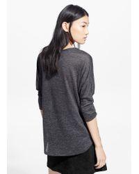 Mango   Gray Dolman Sleeve T-Shirt   Lyst