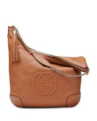 Gucci - Brown Soho Leather Chain Shoulder Bag - Lyst