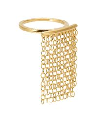 Elizabeth and James | Metallic Kona 23kt Gold-plated Chain Ring | Lyst