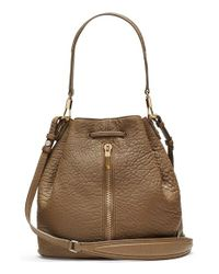 Elizabeth and James | Natural 'cynnie' Large Grain Leather Bucket Bag | Lyst