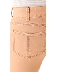 Free People - Pink Millennium Colored Skinny Jeans - Lyst