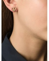 Marc By Marc Jacobs - Metallic Crystal Embellished Heart-Peace Earrings - Lyst