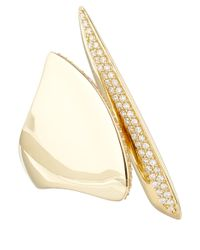 Alexis Bittar Fine | Metallic Gold White Diamond Sculptural Cleave Ring | Lyst