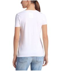 BOSS Orange | White T-shirt With Foil-print Effects: 'tishirt' | Lyst