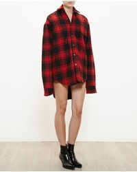 Vetements - Black Checked Wool Shirt - Lyst