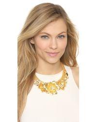 Holst + Lee | Metallic Golden Lei Statement Necklace - Gold | Lyst