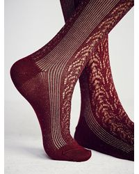 Free People | Purple Womens Sarasota Over The Knee Sock | Lyst