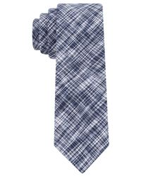 Calvin Klein | Blue Etched Solid Skinny Tie for Men | Lyst