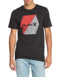 Hurley | Black 'Chevron - Premium' Graphic T-Shirt for Men | Lyst