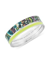 The Sak | Metallic Sakroots Bracelet Set Silvertone Neon Green One World Bangle Bracelets | Lyst