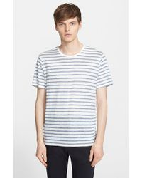 ATM | Blue Stripe Linen T-shirt for Men | Lyst