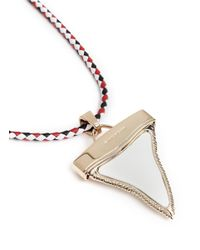 Givenchy - Metallic Leather Shark Tooth Necklace - Lyst