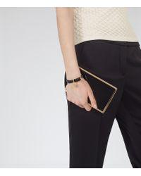 Reiss | Black Hazel Padlock Detail Bracelet | Lyst