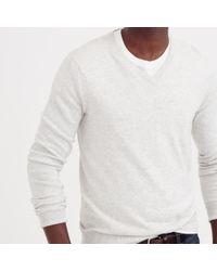 J.Crew - Metallic Slim Cotton-cashmere V-neck Sweater for Men - Lyst