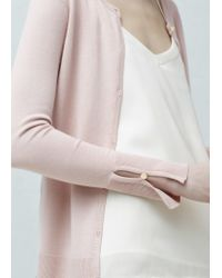 Mango | Natural Buttoned Cardigan | Lyst